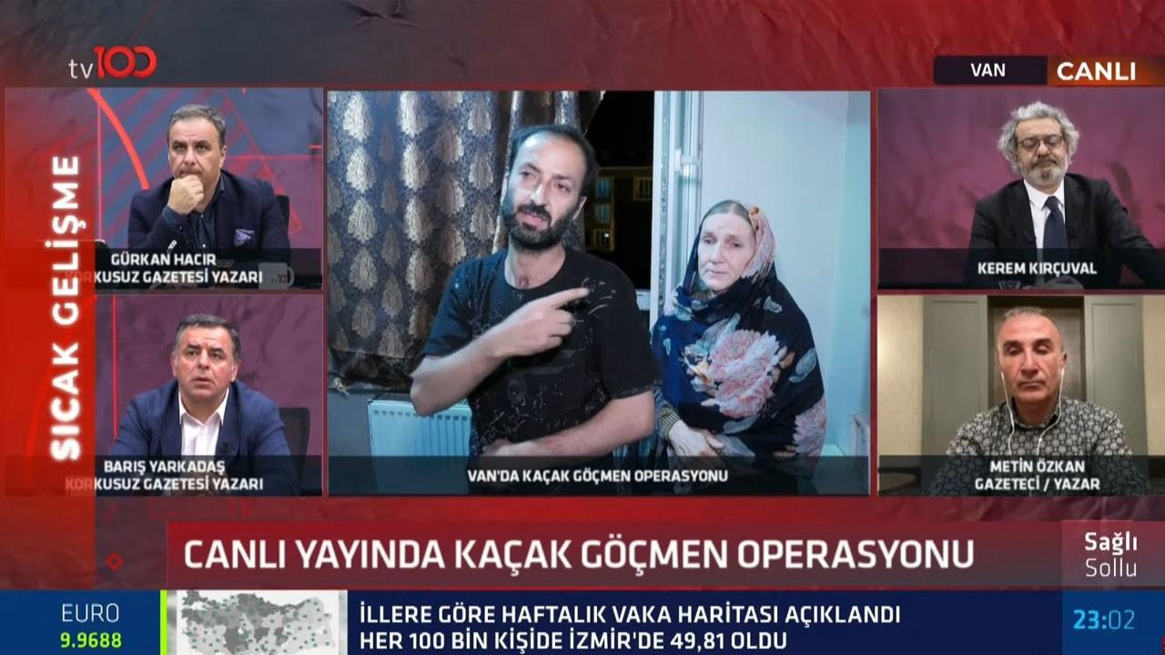 Canlı yayında kaçak göçmen operasyonu