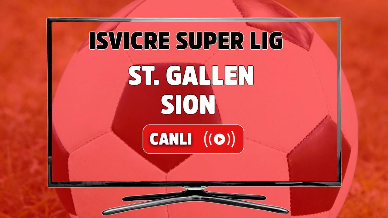 St. Gallen - Sion Canlı
