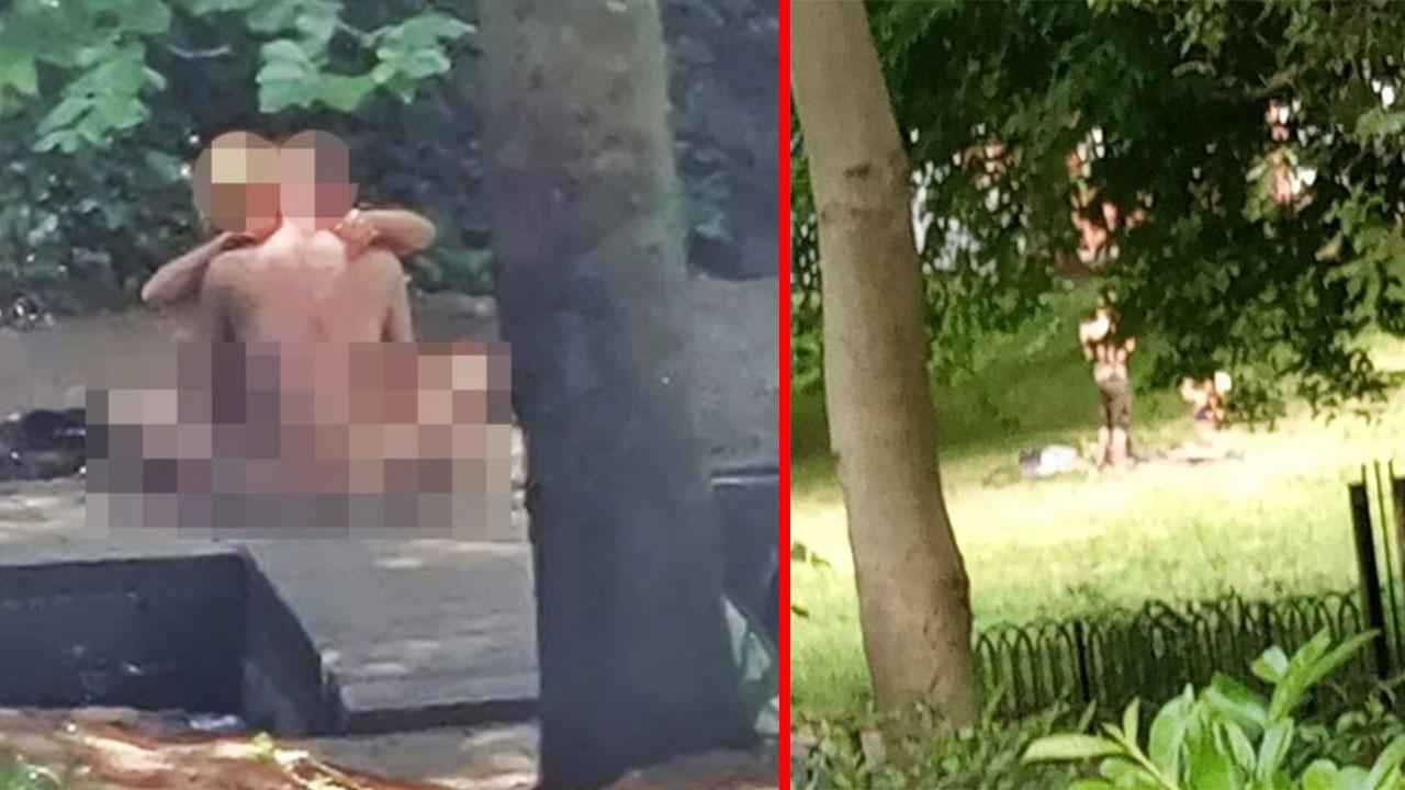 Çocuk parkında seks yaptılar