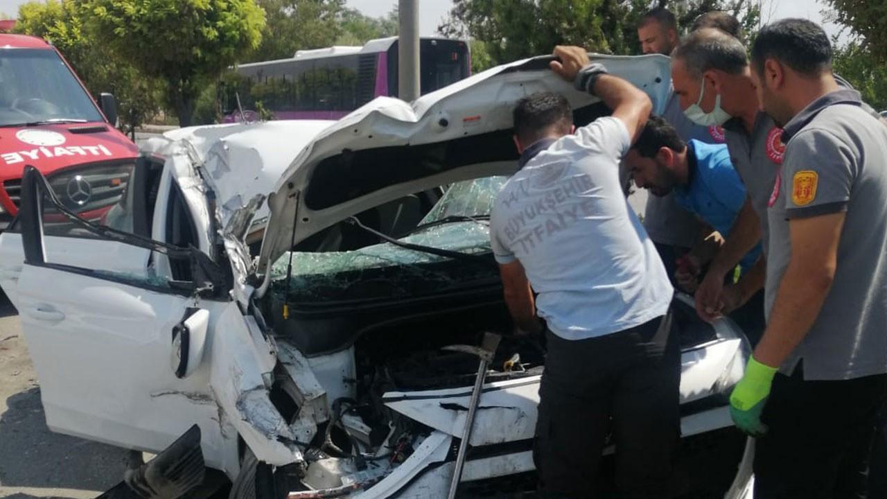 Van'da feci kaza! Takla attı