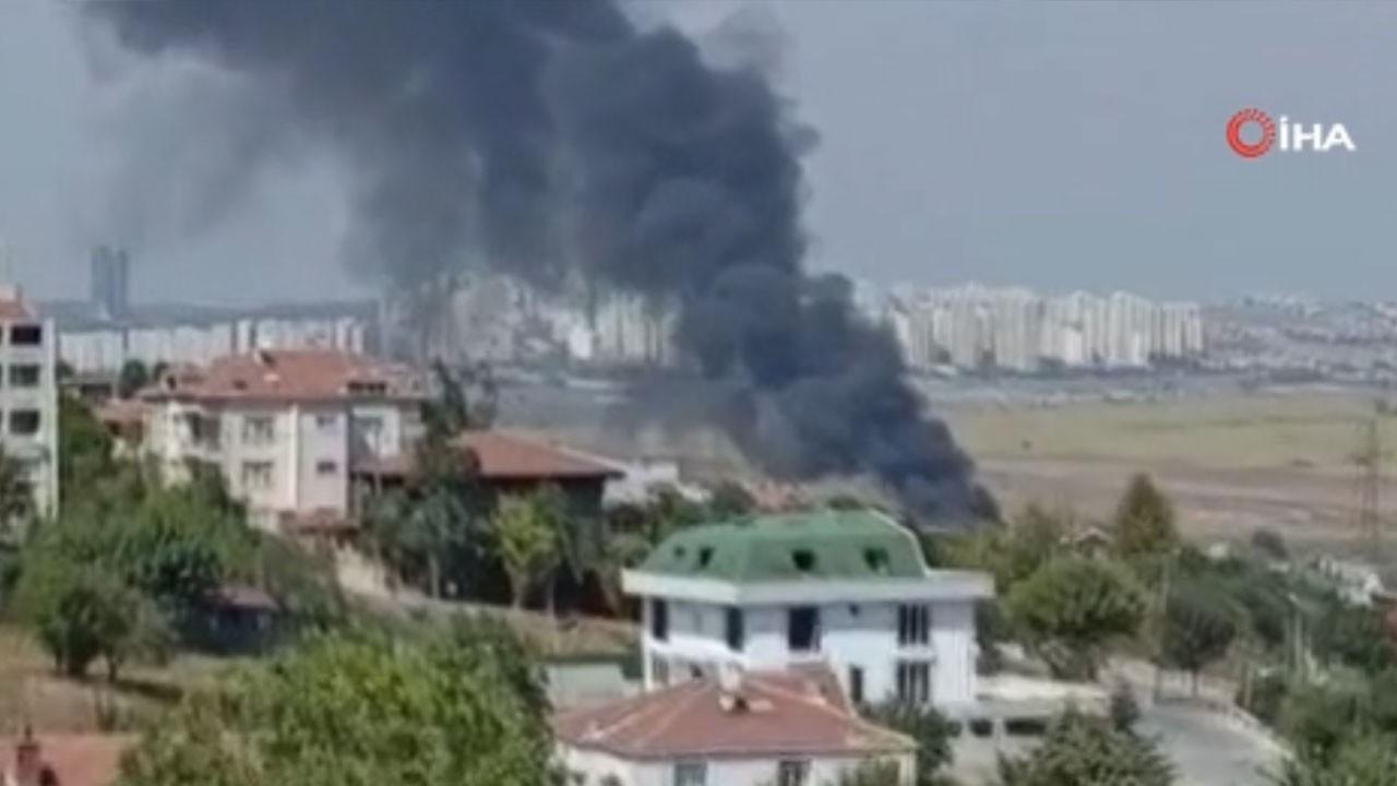 Avcılar Firuzköy'de korkutan yangın!