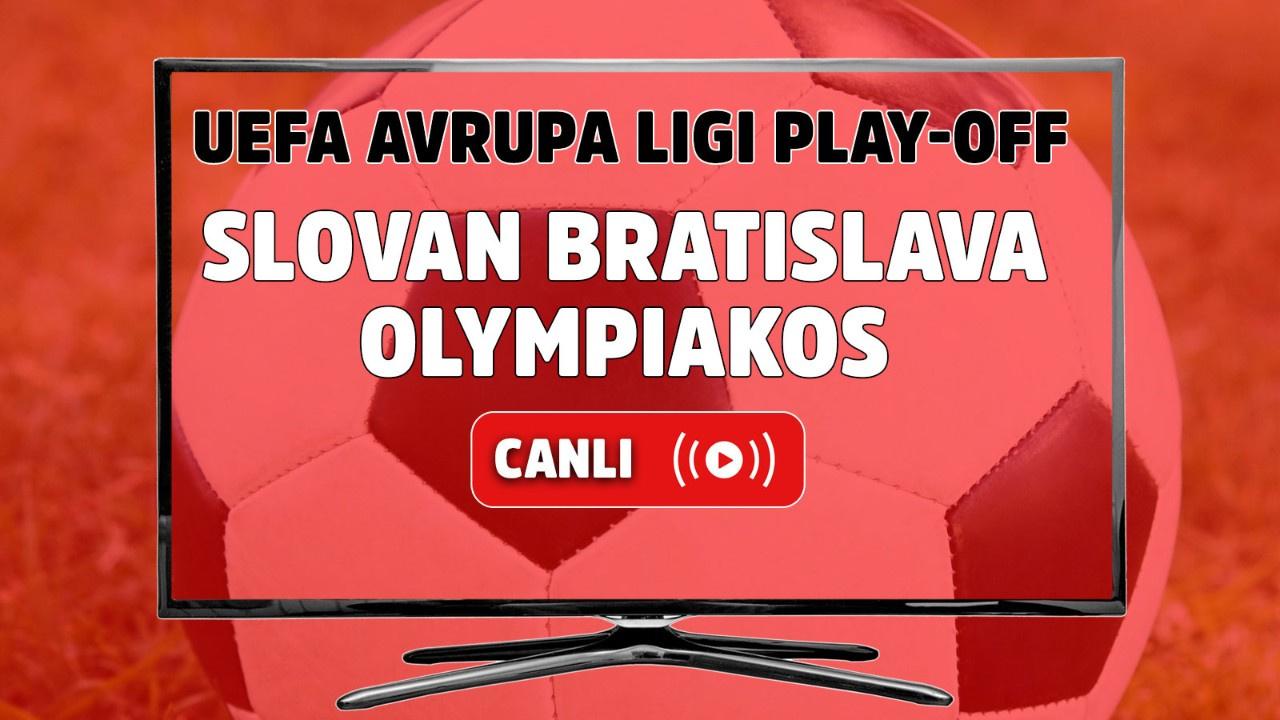 Slovan Bratislava - Olympiakos Canlı