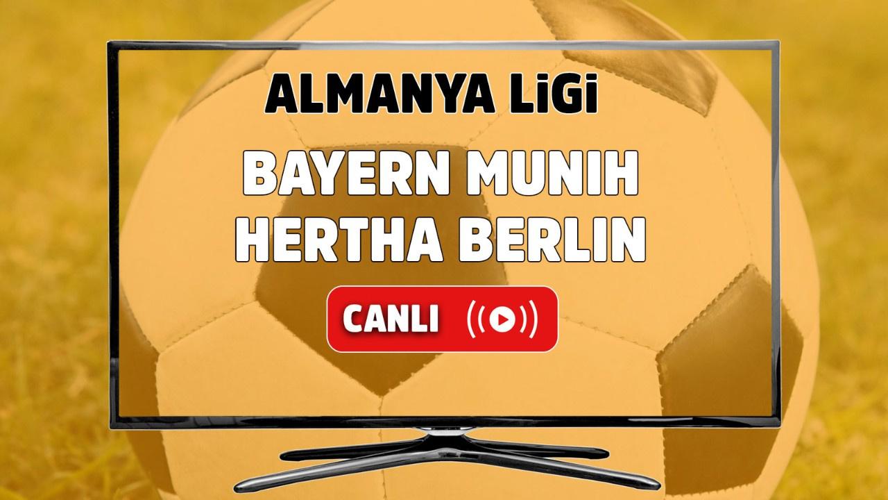 Bayern Münih – Hertha Berlin Canlı