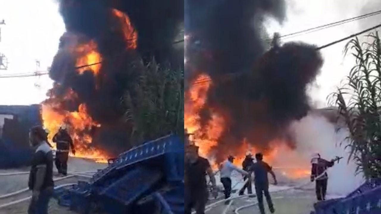 Fabrika alev alev yanıyor!