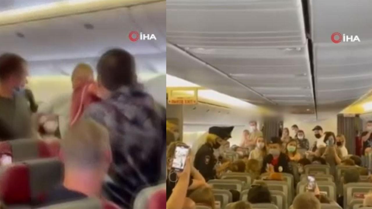 Maske takmak istemeyen yolcu gözaltına alındı