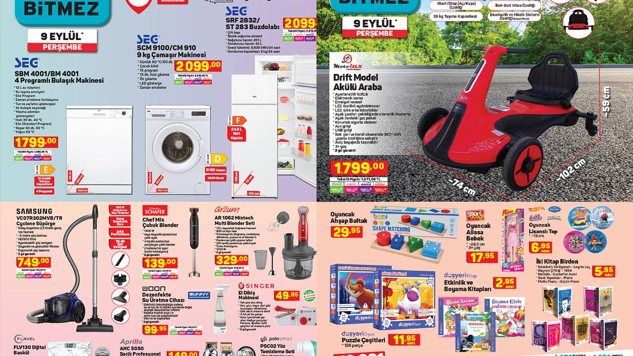 A101 11 Eylül Aktüel ürünler kataloğu!