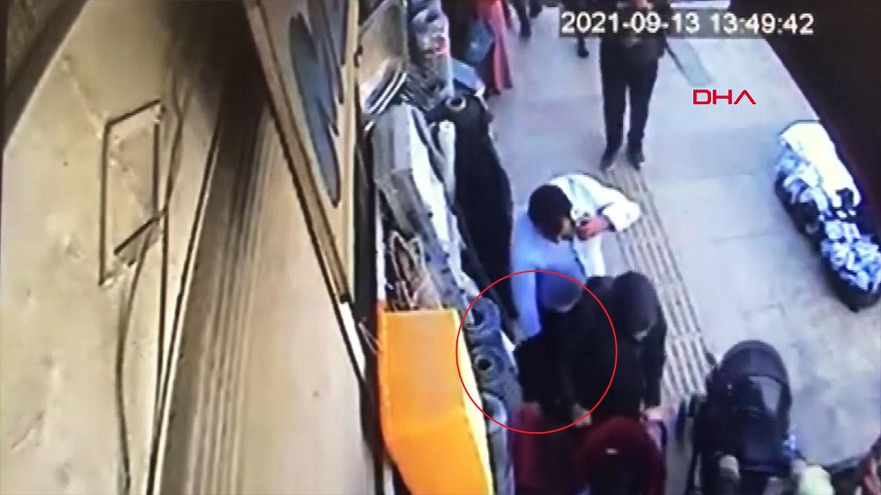 Bebeğiyle birlikte yürüyen kadına hırsızlık şoku!