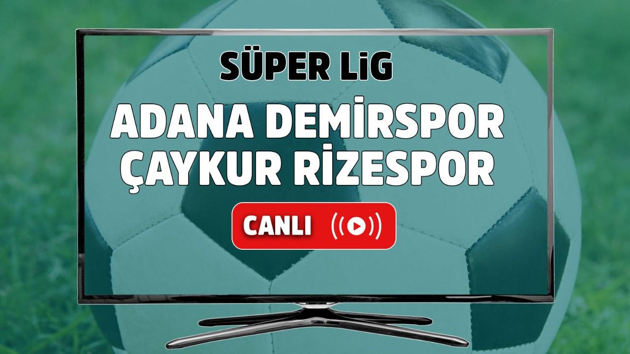 Adana Demirspor – Çaykur Rizespor Canlı maç izle