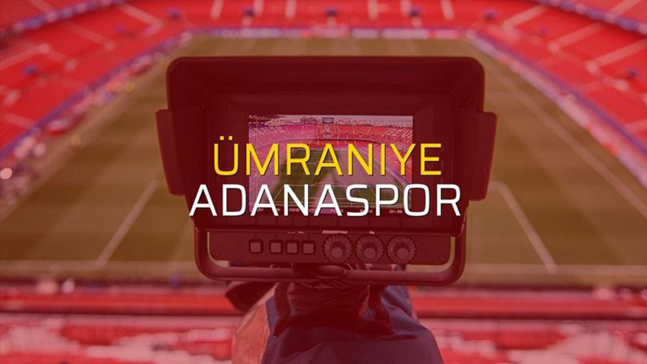 Adanaspor-Ümraniyespor Canlı maç izle