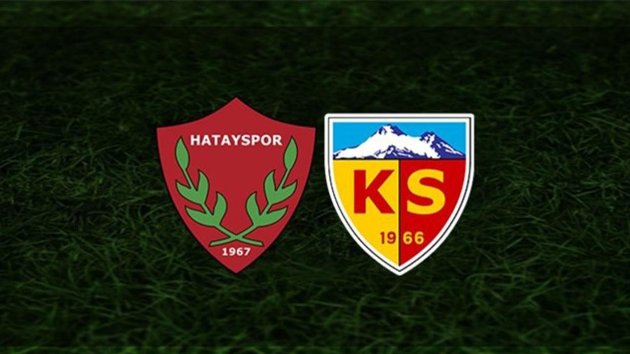 Hatayspor-Kayserispor Canlı maç izle