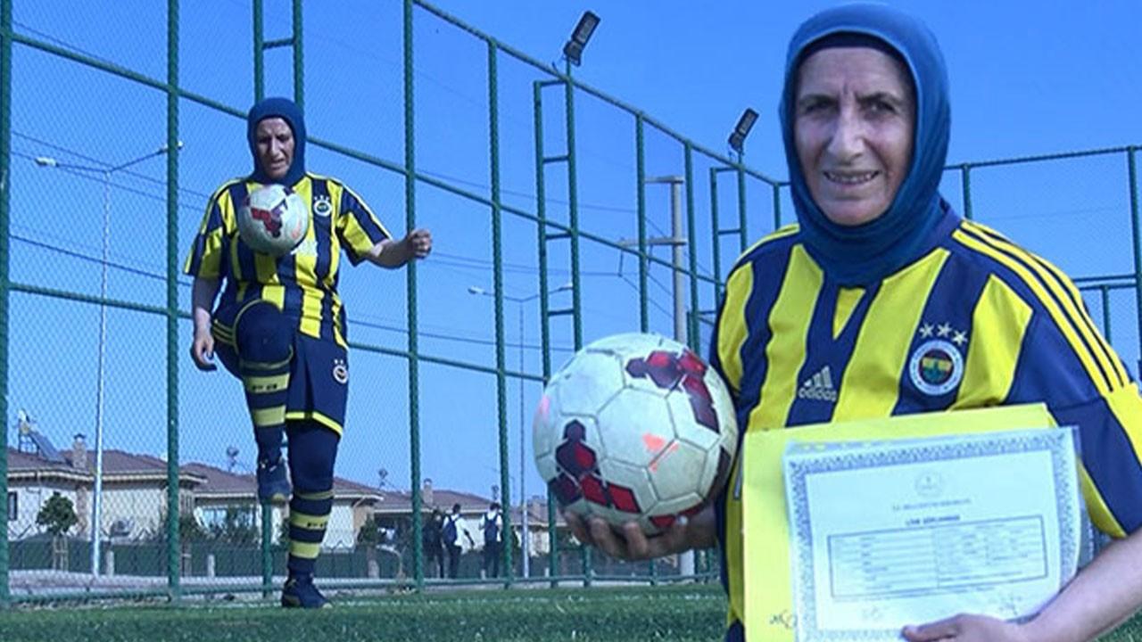 53 yaşında Azize antrenör olmak için diploma aldı