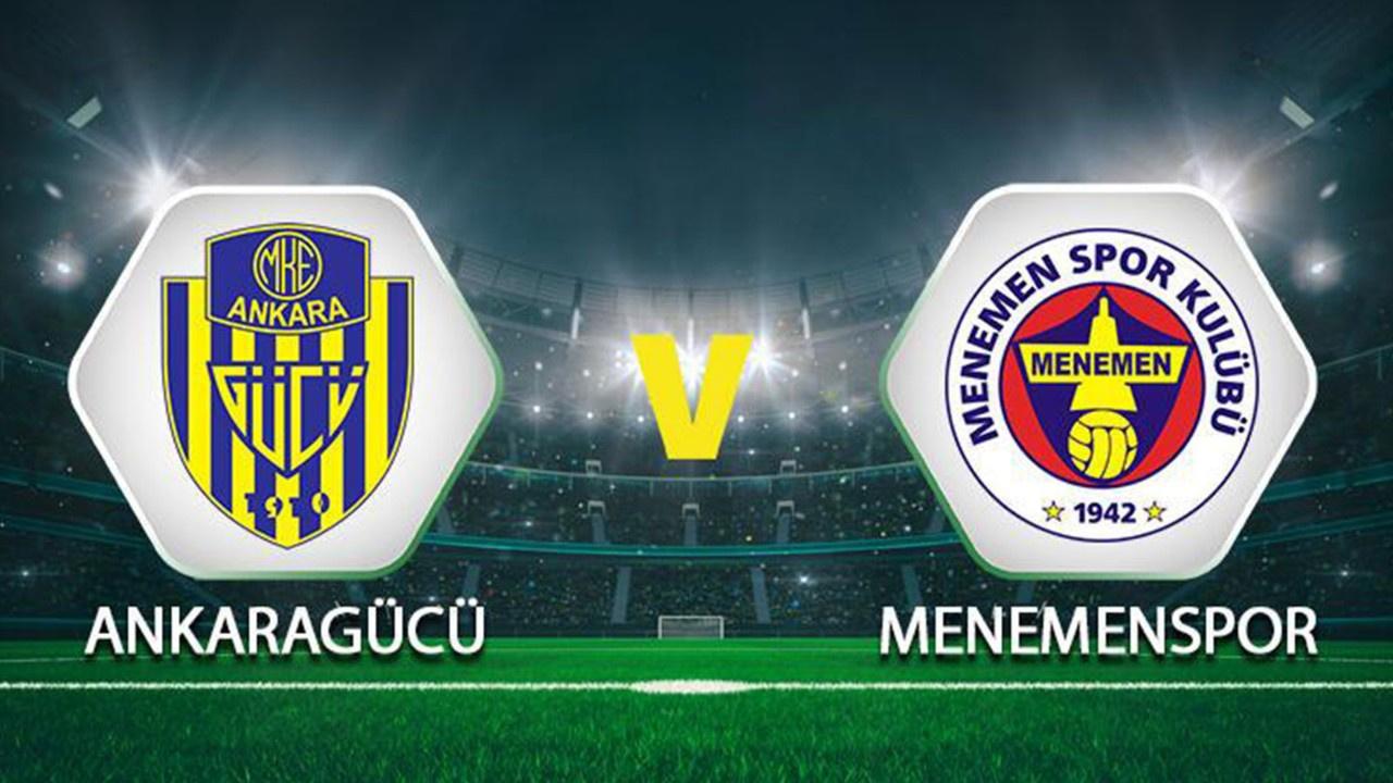 MKE Ankaragücü-Menemenspor Canlı maç izle