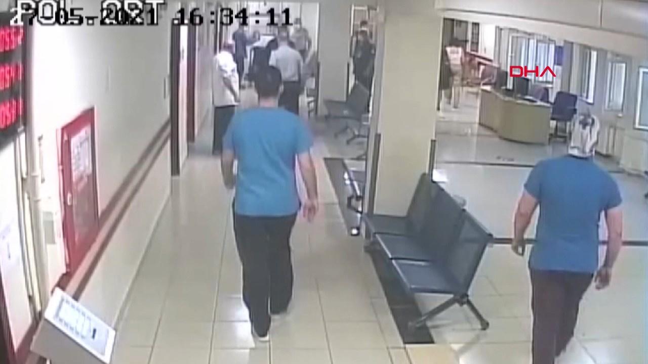 Güvenlik görevlilerinin önünde doktoru bıçakladı!