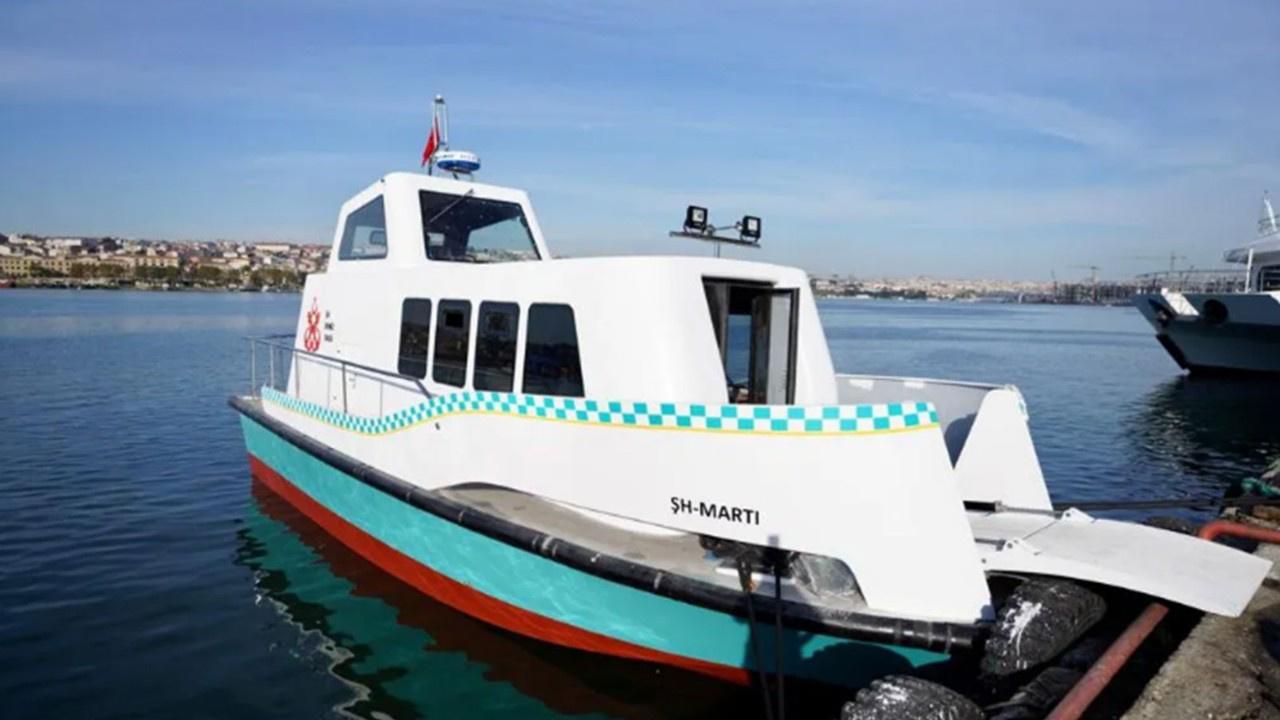 İstanbul'da deniz taksiler suya indirildi
