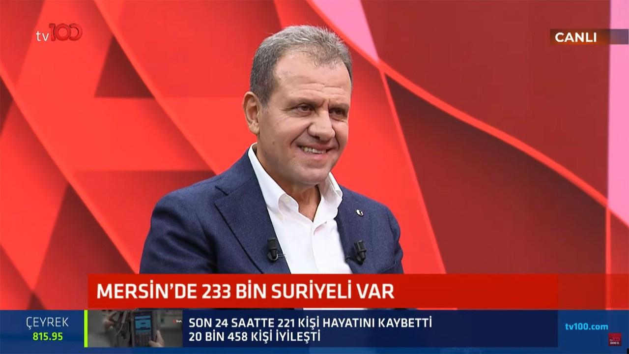 Mersin'de ne kadar Suriyeli var? Mersin Büyükşehir Belediye Başkanı Vahap Seçer canlı yayında açıkladı!