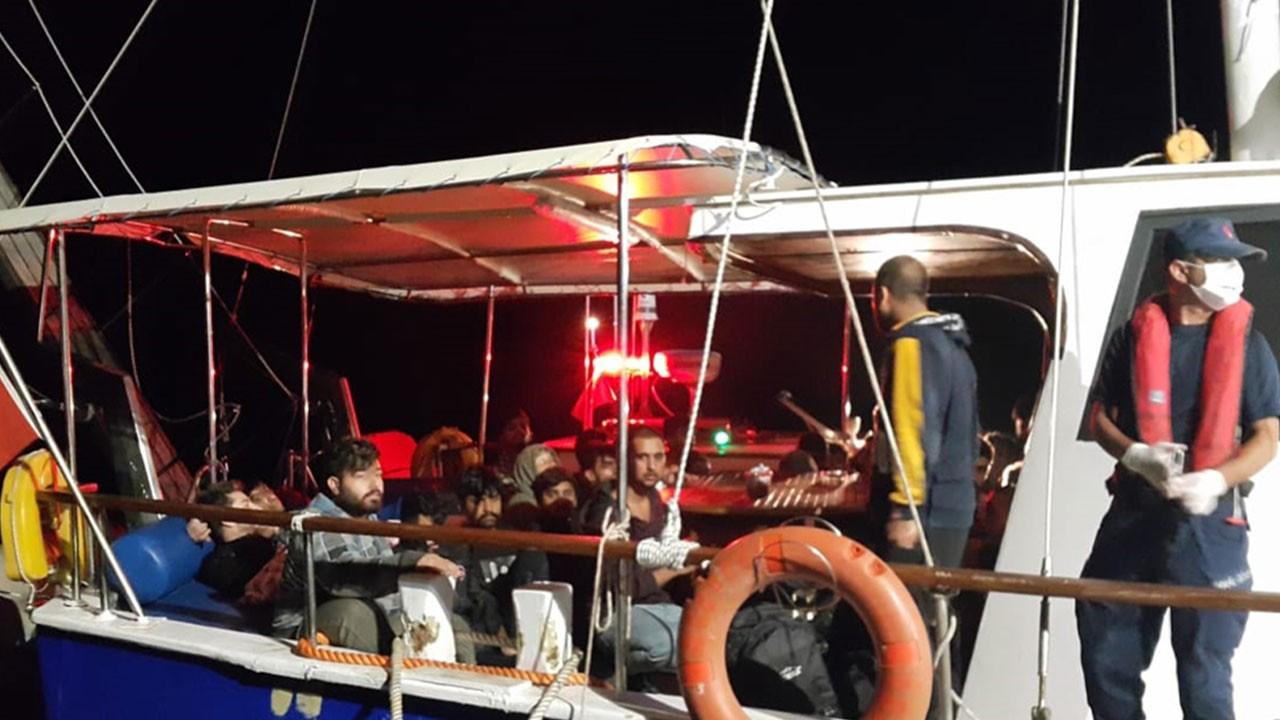 Çanakkale açıklarında 193 göçmen yakalandı