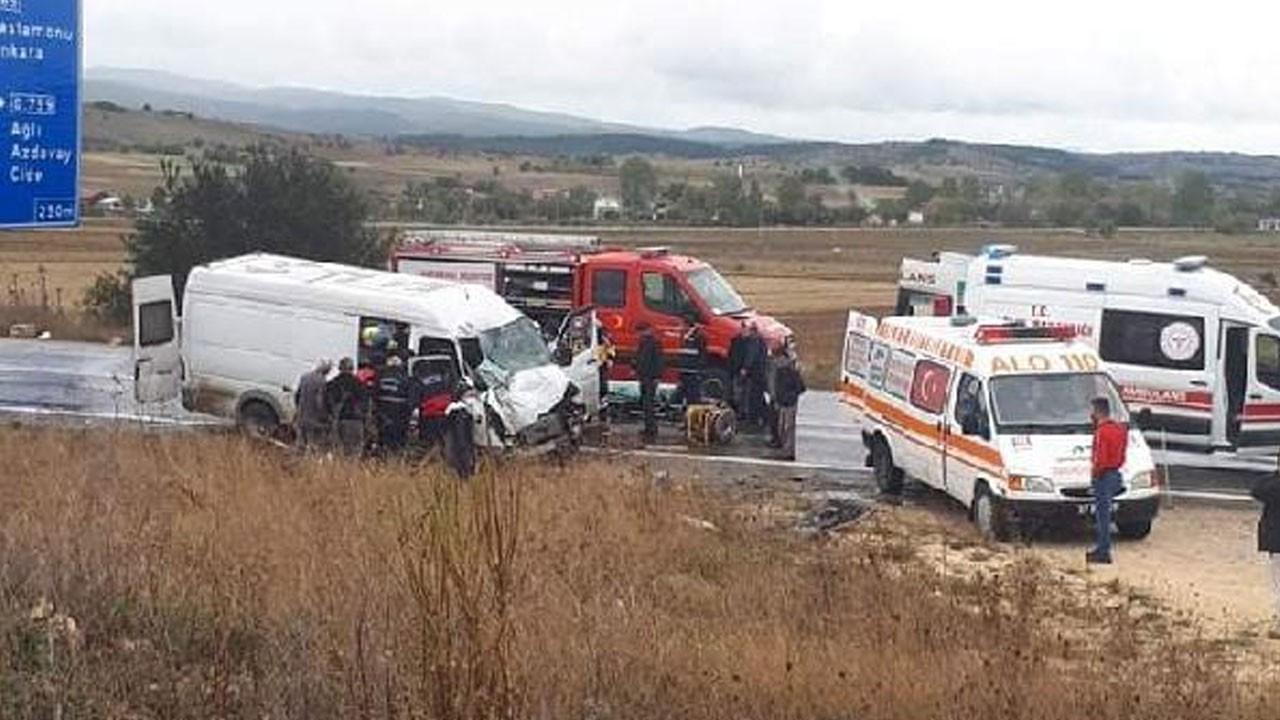 Kastamonu'da feci kaza: 8 yaralı