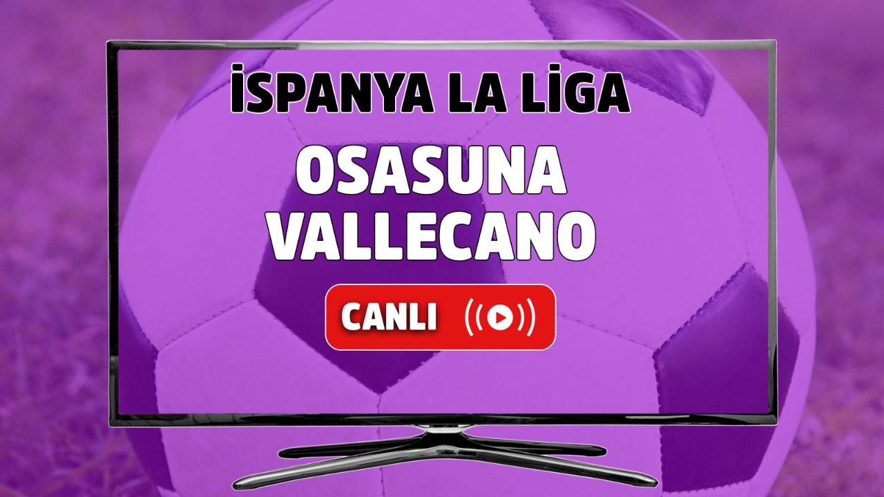 Osasuna-Vallecano Canlı