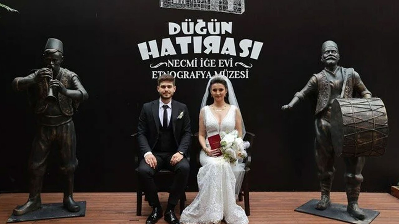 Müzede ilk nikah kıyıldı