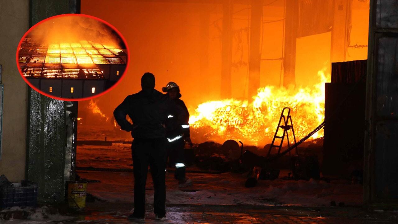 Fabrikada korkutan yangın!