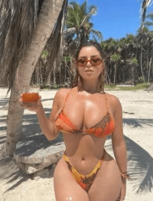 Demi Rose turuncu bikinisiyle takipçilerini mest etti - Sayfa 3