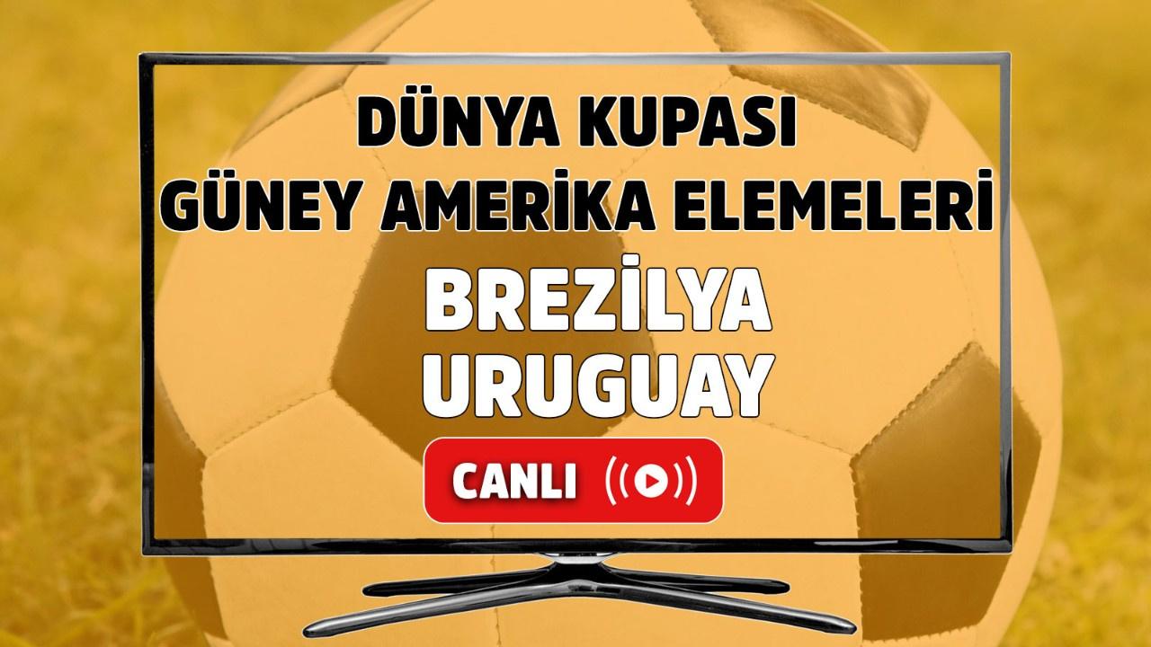 Brezilya-Uruguay Canlı