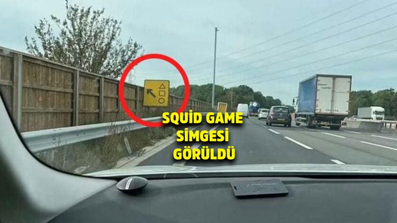 Squid Game dizisinin simgesi Londra'da bir tabelada görüldü! Polis açıklama yaptı