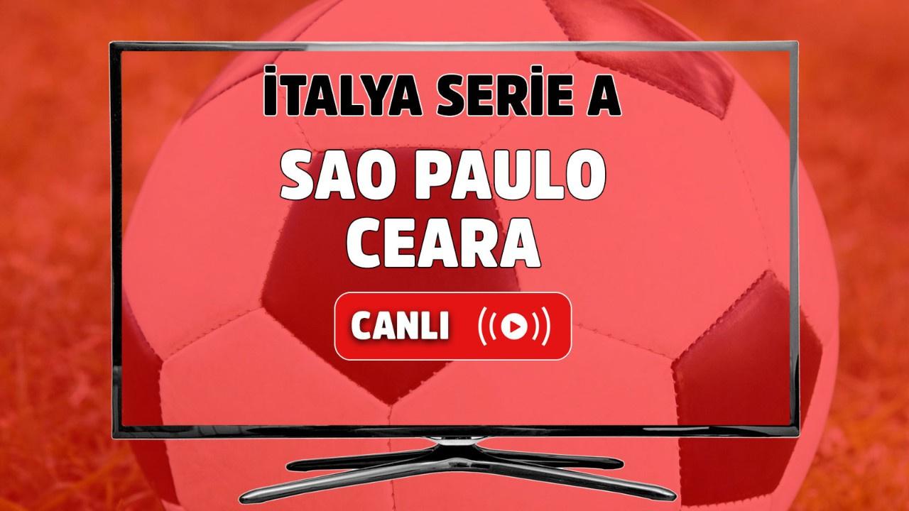 Sao Paulo-Ceara Canlı maç izle