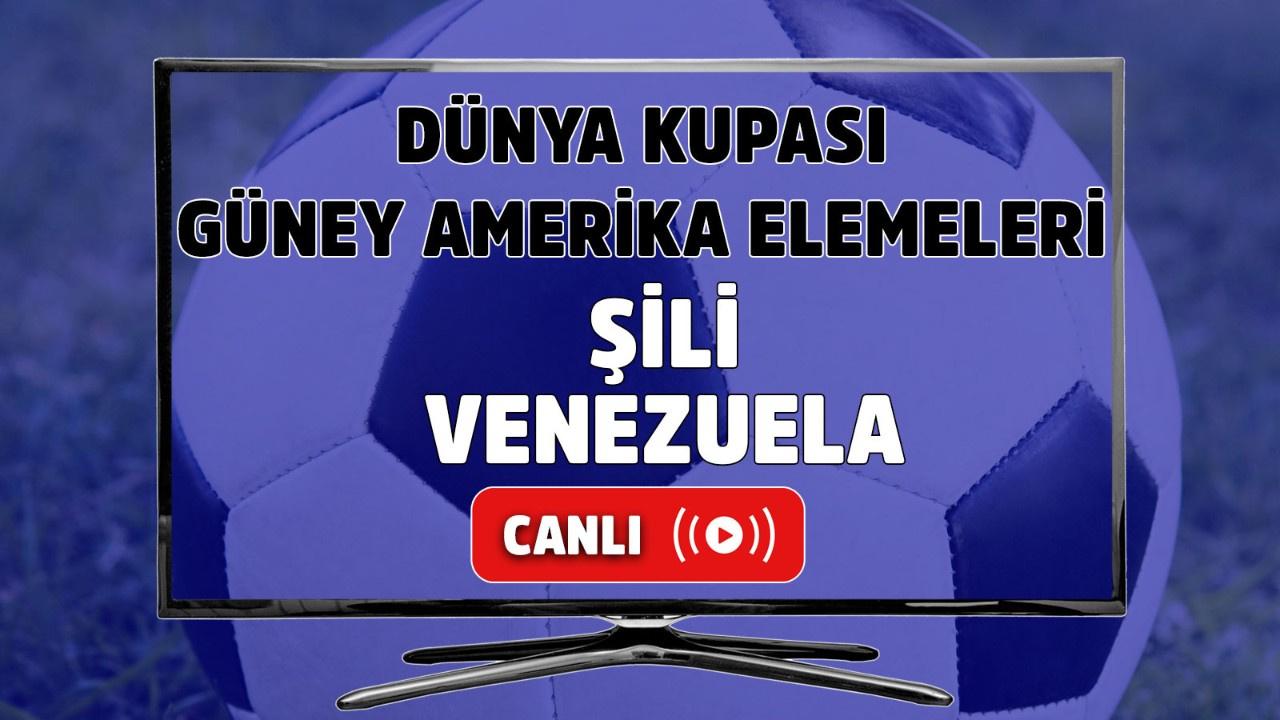 Şili-Venezuela Canlı maç izle!
