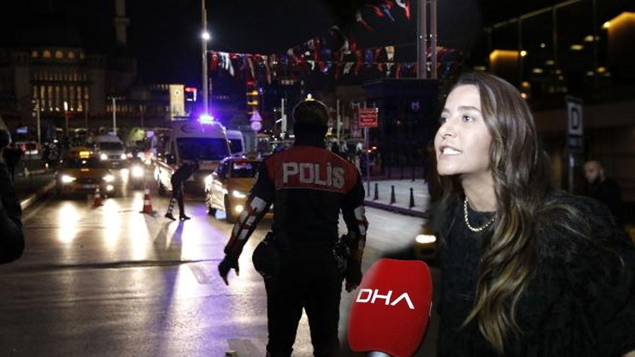 Taksiciye küfür eden kadın gözaltına alındı