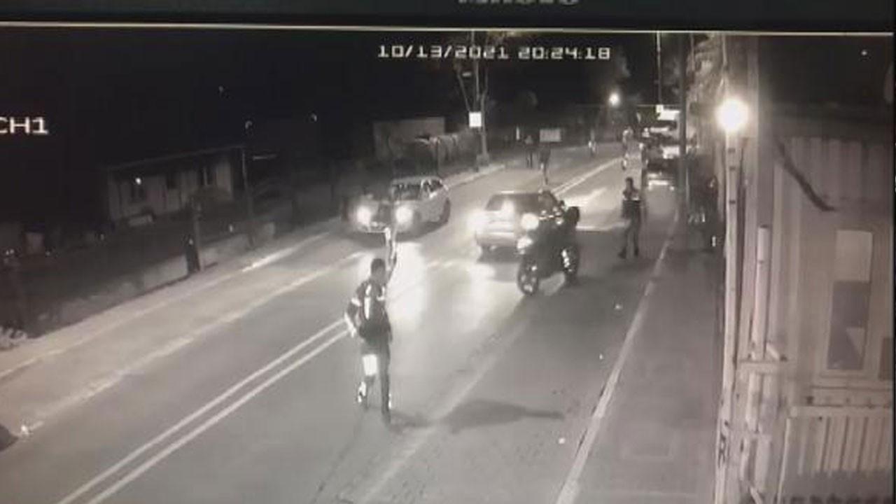 Polise silahlı saldırı anı kamerada!