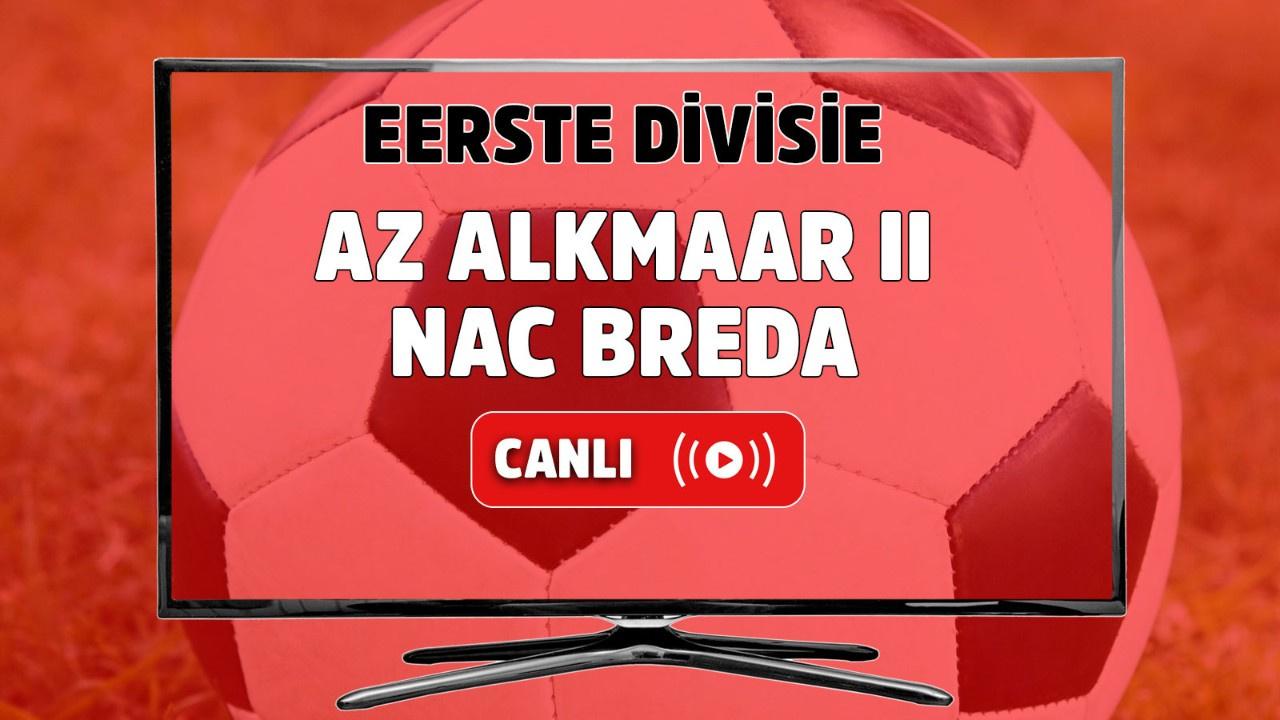 AZ Alkmaar II-NAC Breda Canlı izle