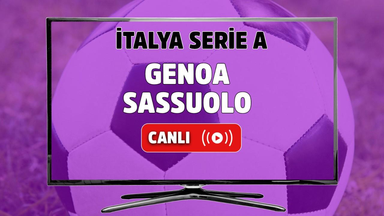 Genoa-Sassuolo Canlı izle