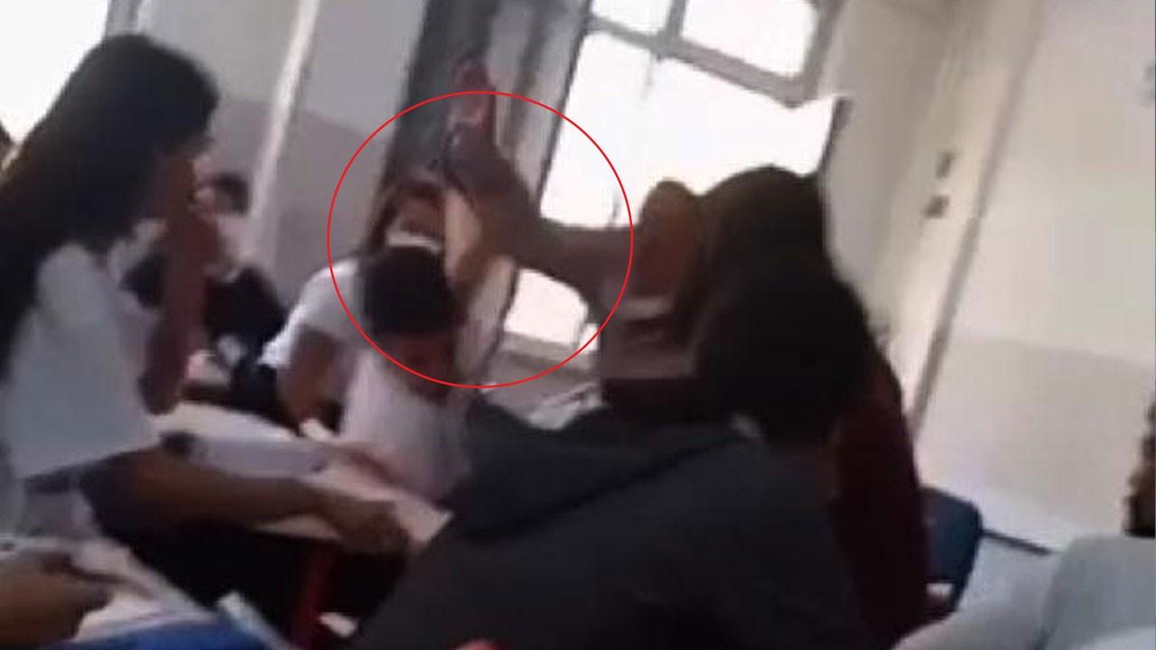 Öğrencisini döven öğretmen kamerada!