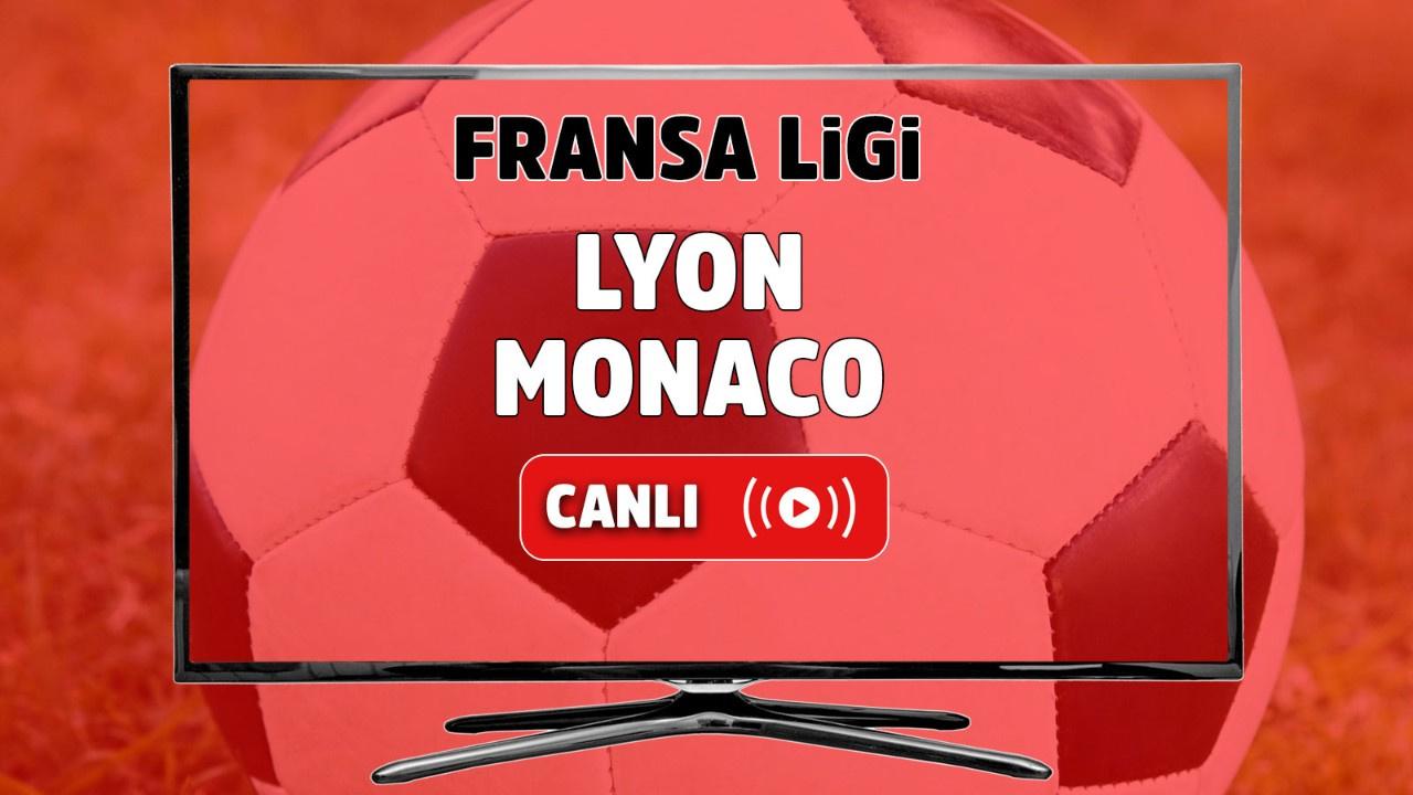 Lyon - Monaco Canlı maç izle