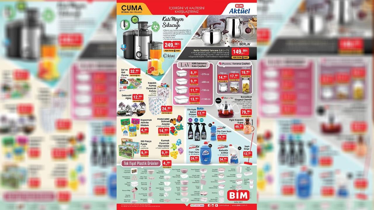 BİM aktüel ürünler kataloğu yayınlandı! BİM 22 Ekim Cuma 2021 aktüel ürünler indirimli fiyat listesi