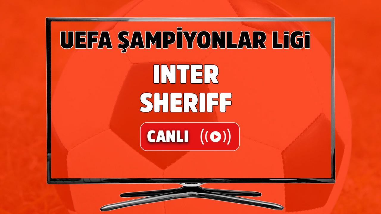 Inter - Sheriff Canlı maç izle