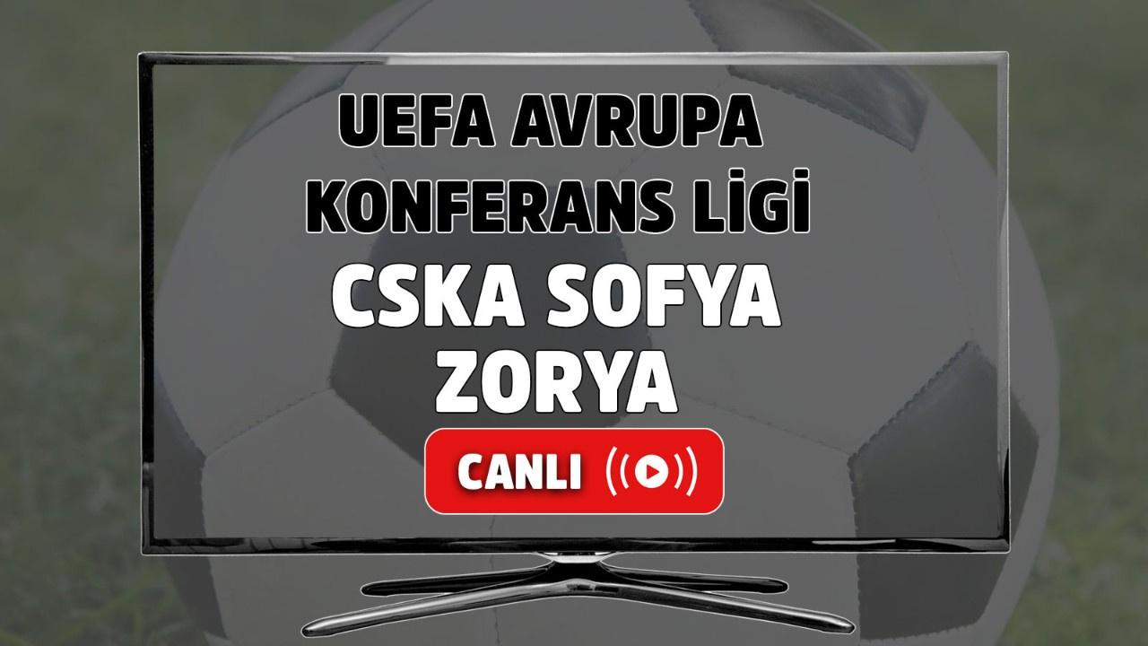 CSKA Sofya Zorya Canlı maç izle