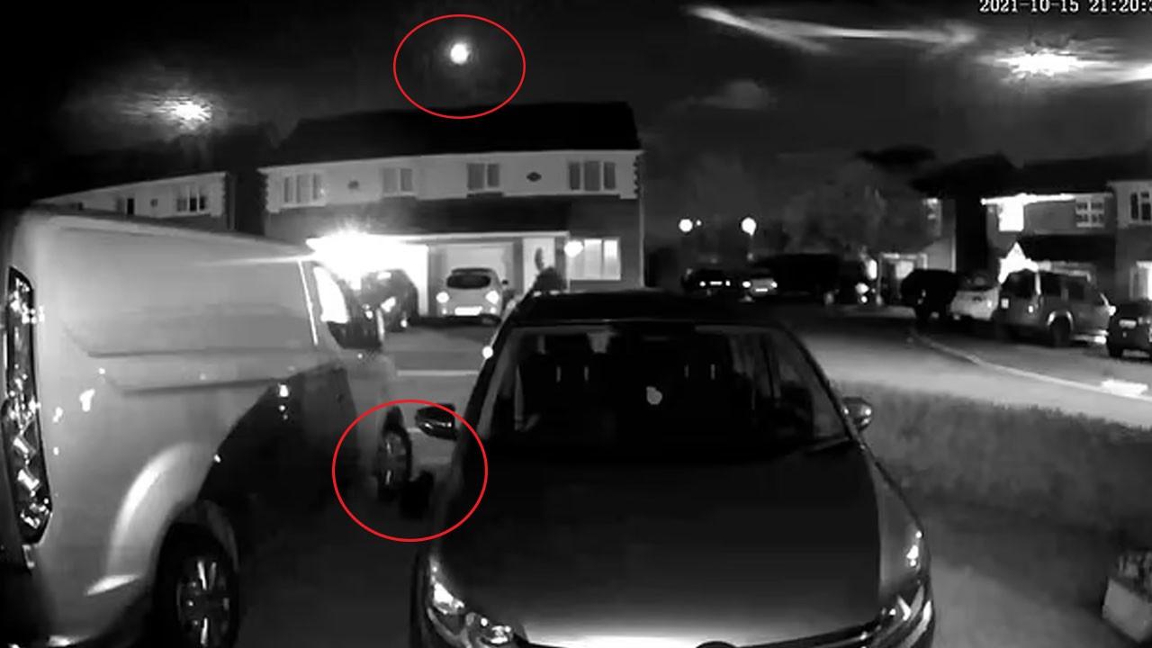 Kedinin meteor düşerken verdiği tepki kamerada!
