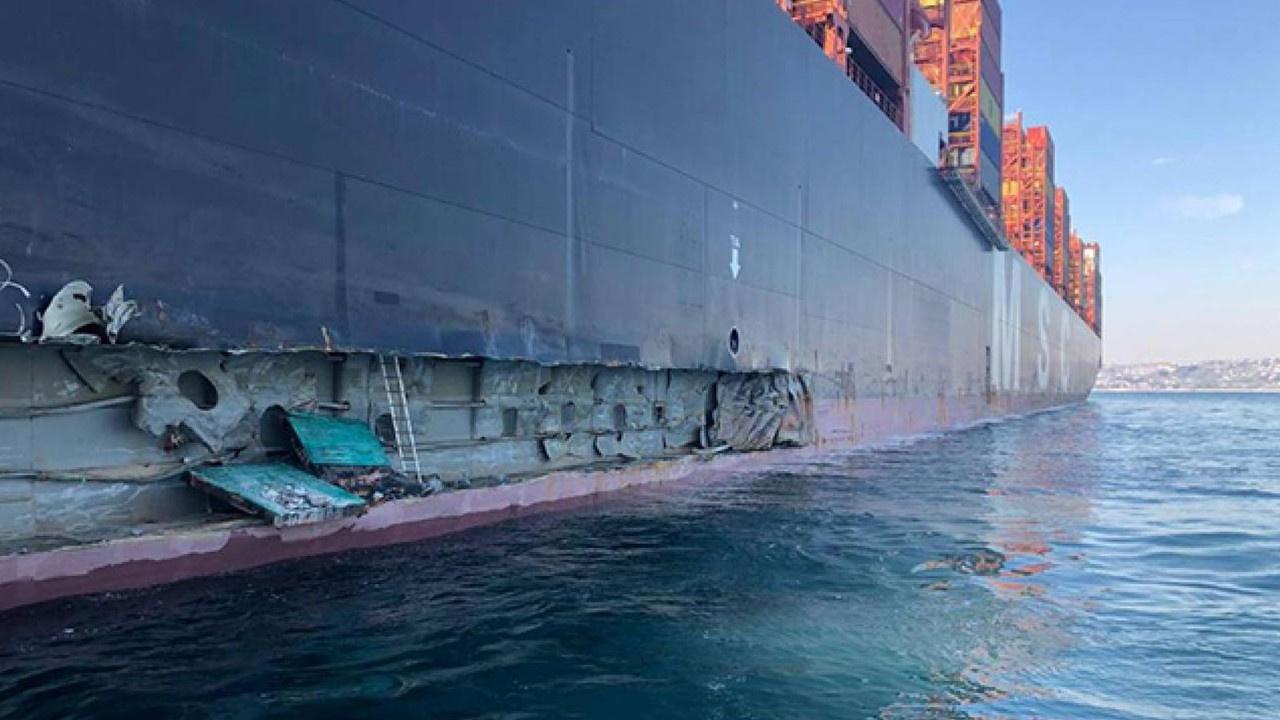 Marmara Denizi açıklarında gemi kazası!