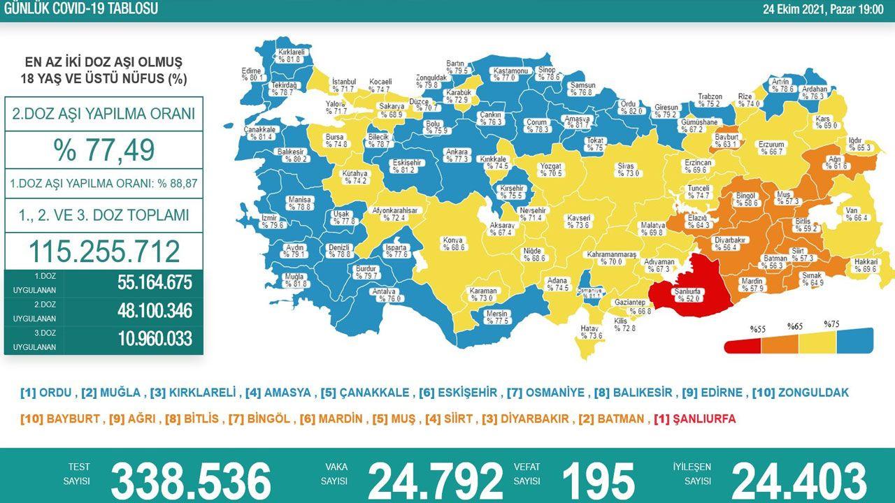 Türkiye'de son koronavirüs tablosu açıklandı - Sayfa 1