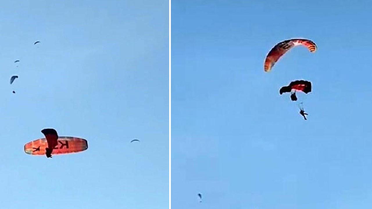 3 yamaç paraşütü pilotu denize düştü!