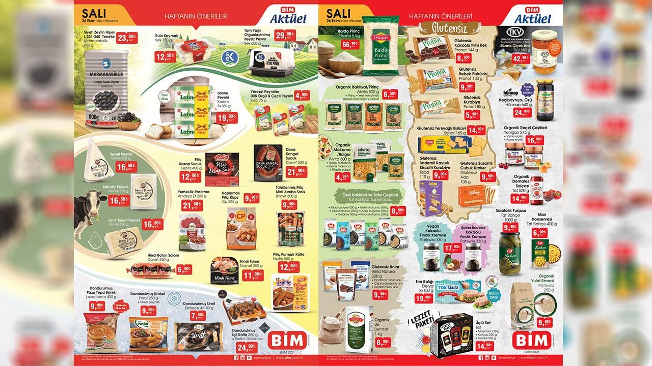 BİM aktüel ürünler kataloğu yayınlandı! BİM 26 Ekim Salı 2021 aktüel ürünler indirimli fiyat listesi