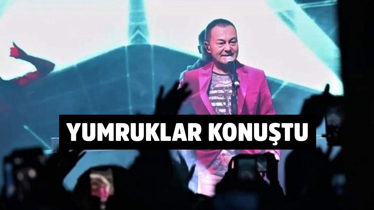 Serdar Ortaç'ın konserinde yumruklar konuştu