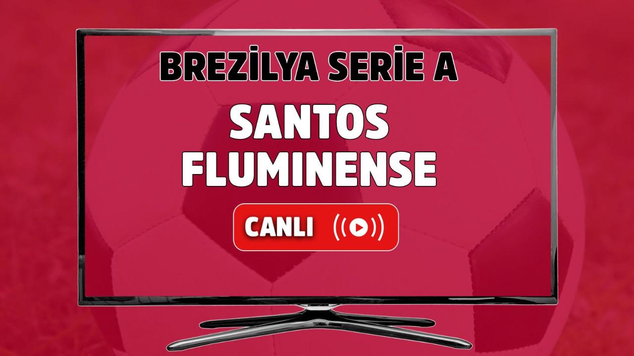 Santos-Fluminense Canlı maç izle